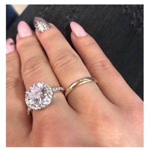 Zirconia Engagement Ring